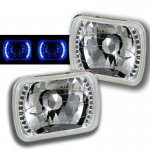 Honda Civic 1984-1985 7 Inch Blue LED Sealed Beam Headlight Conversion