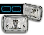 1993 GMC Sierra 7 Inch Blue Ring Sealed Beam Headlight Conversion