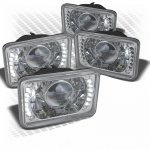 1987 Chevy Cavalier LED Sealed Beam Projector Headlight Conversion Low and High Beams