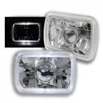 2002 Ford F250 White Halo Sealed Beam Projector Headlight Conversion