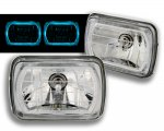 1988 Jeep Wrangler 7 Inch Blue Ring Sealed Beam Headlight Conversion