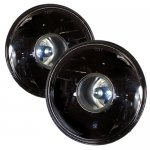 1973 Ford F250 Black Projector Style Sealed Beam Headlight Conversion