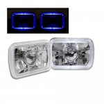 1993 Jeep Wrangler Blue Halo Sealed Beam Projector Headlight Conversion