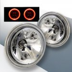VW Cabriolet 1985-1993 Sealed Beam Headlight Conversion Red Halo