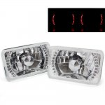 1985 Cadillac Cimarron Red LED Sealed Beam Headlight Conversion