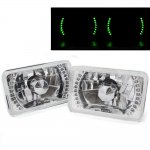 1987 Cadillac Brougham Green LED Sealed Beam Headlight Conversion