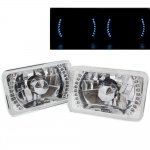 1984 Chrysler Laser Blue LED Sealed Beam Headlight Conversion