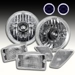 2002 Jeep Wrangler Projector Headlights Halo and Clear Bumper Lights Side Marker