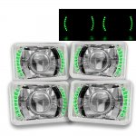 1984 Buick Regal Green LED Sealed Beam Projector Headlight Conversion Low and High Beams