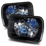 2002 Ford F250 Black Chrome Sealed Beam Projector Headlight Conversion