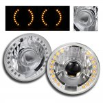 1985 Mazda RX7 7 Inch Amber LED Sealed Beam Projector Headlight Conversion