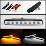 Clear LED DRL Daytime Running Lights with Amber Signal