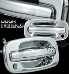 Chevy Avalanche 2002-2003 Front Chrome Door Handles