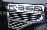 2010 Ford F450 Super Duty Polished Aluminum Side Vent Billet Grille Insert