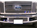 2010 Ford F450 Super Duty Polished Aluminum Lower Bumper Billet Grille Insert