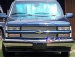 1994 Chevy 1500 Pickup Polished Aluminum Billet Grille Insert