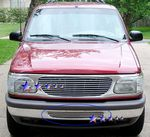 1995 Ford Explorer Polished Aluminum Lower Bumper Billet Grille Insert