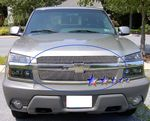 2001 Chevy Avalanche Polished Aluminum Vertical Billet Grille Insert