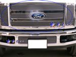 2010 Ford F450 Super Duty Polished Aluminum Billet Grille Insert