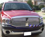 2006 Dodge Ram Polished Aluminum Vertical Billet Grille Insert