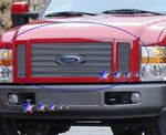2008 Ford F250 Super Duty FX4 Polished Aluminum Billet Grille Insert
