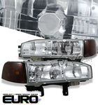 1993 Honda Accord Clear Euro Headlights and Smoked Corner Lights Set