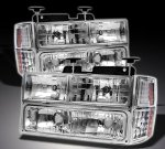 1997 Chevy 1500 Pickup Chrome Euro Headlights and Bumper Lights