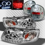 1999 Ford F150 Flareside Chrome Projector Headlights and LED Tail Lights