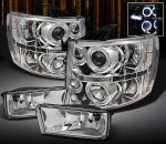 Chevy Silverado 2007-2013 Clear Halo Projector Headlights and Fog Lights