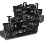 1994 Chevy Blazer Full Size Smoked Headlights and Bumper Lights Set
