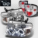 2004 Ford F150 Flareside Chrome Halo Projector Headlights and Tail Lights