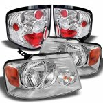 2004 Ford F150 Flareside Clear Headlights and Tail Lights
