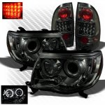 Toyota Tacoma 2005-2011 Smoked CCFL Halo Headlights and LED Tail Lights