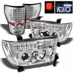 Toyota Tundra 2007-2013 Chrome Projector Headlights and LED Tail Lights