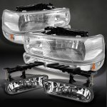 2000 Chevy Silverado Clear Headlights Set and Fog Lights