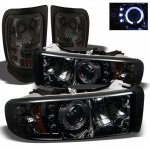 Dodge Ram 3500 1994-2002 Smoked Halo Projector Headlights and Tail Lights