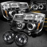 Nissan Titan 2004-2012 Black Projector Headlights and Smoked Fog Lights
