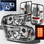 Dodge Ram 2009-2015 Chrome Projector Headlights and LED Tail Lights