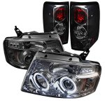 2004 Ford F150 Smoked Halo Projector Headlights and Tail Lights