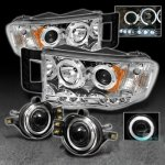 Dodge Ram 2500 2003-2005 Clear Halo Projector Headlights and Halo Fog Lights