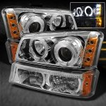 2003 Chevy Silverado 2500 Clear Halo Projector Headlights and Bumper Lights