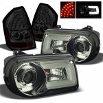 Chrysler 300C 2005-2007 Smoked Projector Headlights DRL and LED Tail Lights