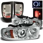 2001 Dodge Ram 2500 Chrome Projector Headlights and LED Tail Lights