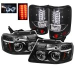 2007 Ford F150 Black Projector Headlights and LED Tail Lights