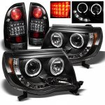 2010 Toyota Tacoma Black Halo Projector Headlights and LED Tail Lights
