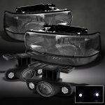 2005 Chevy Tahoe Smoked Headlights Set and Projector Fog Lights