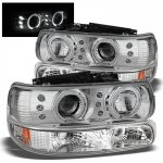 Chevy Silverado 1999-2002 Chrome Halo Projector Headlights and Bumper Lights