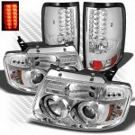 2004 Ford F150 Chrome Projector Headlights and LED Tail Lights