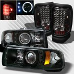 2001 Dodge Ram 2500 Black Projector Headlights and LED Tail Lights