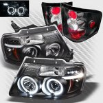 2004 Ford F150 Flareside Black Halo Projector Headlights and Tail Lights